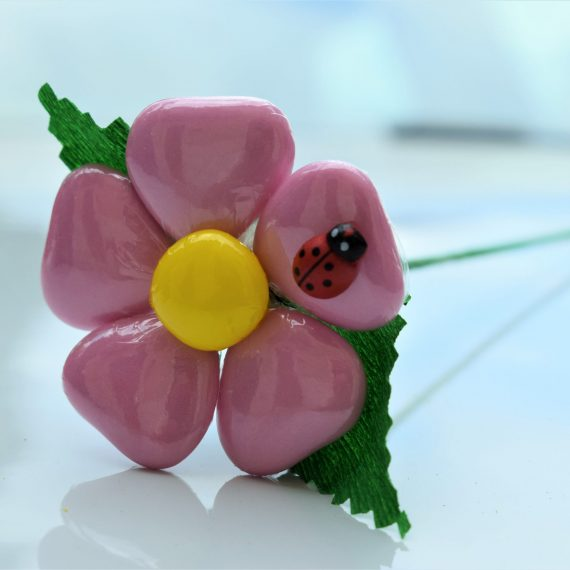 Margherita a 5 petali Cuore Rosa Pastello